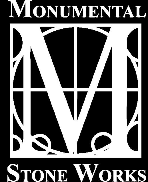 monumental stone logo vertical