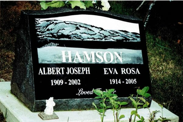 sample headstone